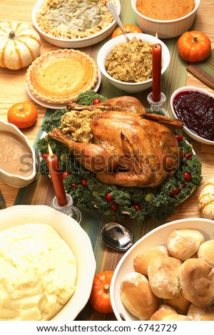 Thanksgiving Feast - stock photo