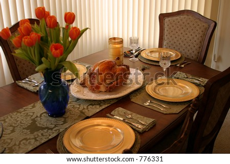 Thanksgiving Holiday Dinner Table (could also be Christmas, or any holiday you like)