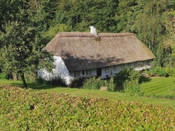 Thatched house, Tandholtvej, near Kolding, Denmark