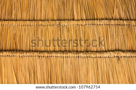 Thatched roof of the straw  show background