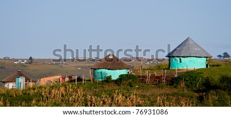 thatched rural house