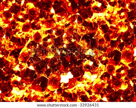 The a red background from igneous quartz