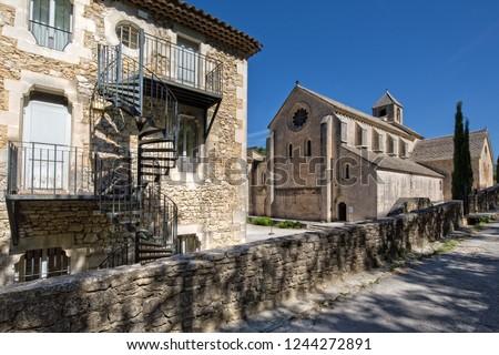 The abbey church of the monastery Notre-Dame de Senanque, Provence, Gordes,  Luberon, Vaucluse, France