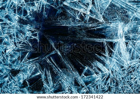 the abstract background of ice structure