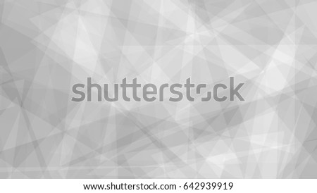 The Abstract Black and White (Grey) Triangle Background. Triangle Pattern #642939919