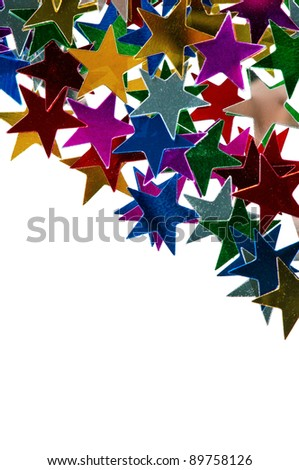 The abstract colorful christmas lights as background