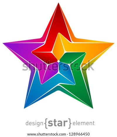 The abstract design element colorful star