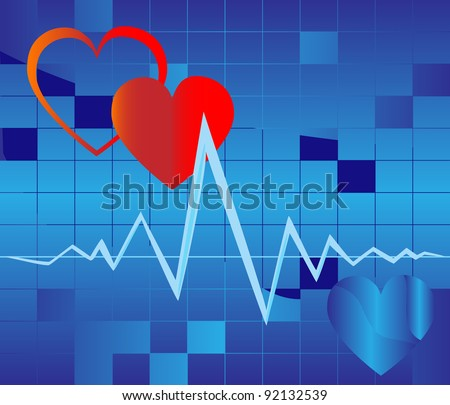 The abstract image of work of human heart