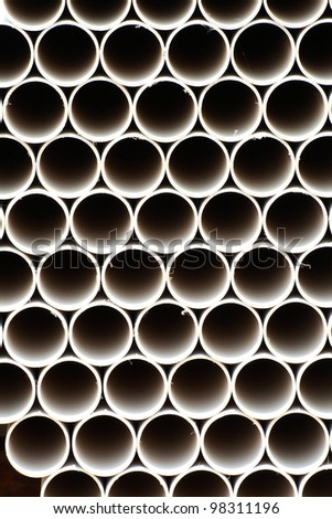 The abstract metal pipes background