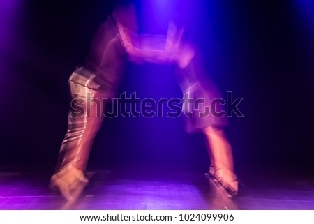 The abstract movement of the dance #1024099906