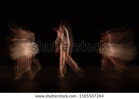 The abstract movement of the dance #1505507264