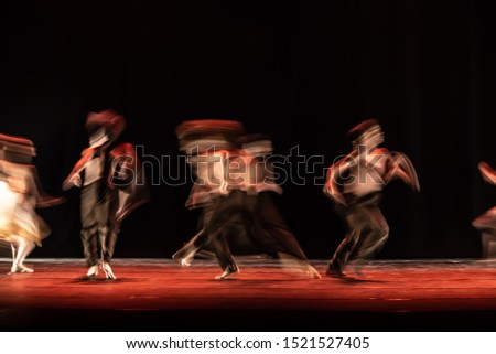 The abstract movement of the dance #1521527405