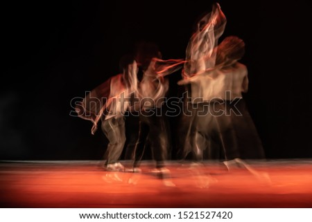 The abstract movement of the dance #1521527420
