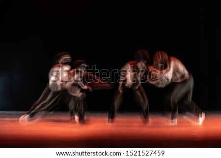 The abstract movement of the dance #1521527459