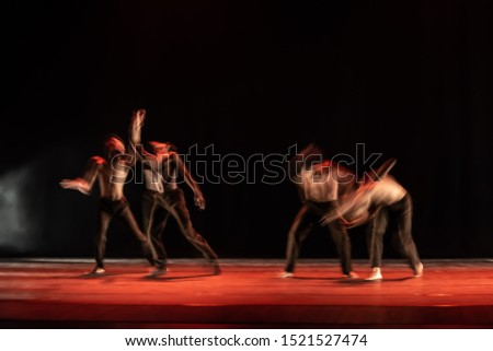 The abstract movement of the dance #1521527474