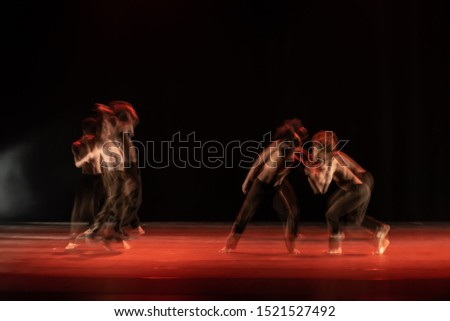 The abstract movement of the dance #1521527492