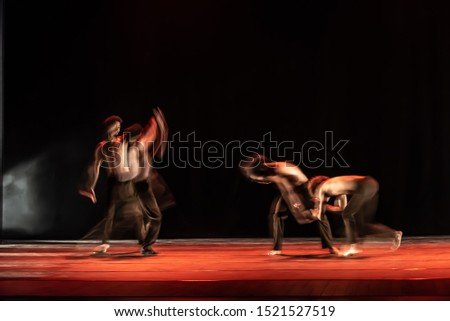 The abstract movement of the dance #1521527519
