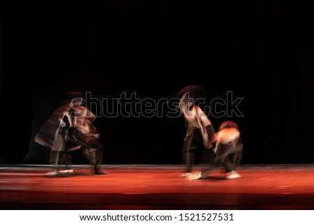 The abstract movement of the dance #1521527531