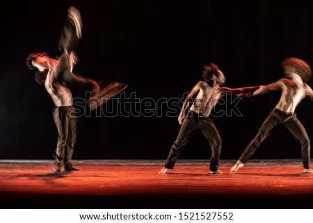 The abstract movement of the dance #1521527552