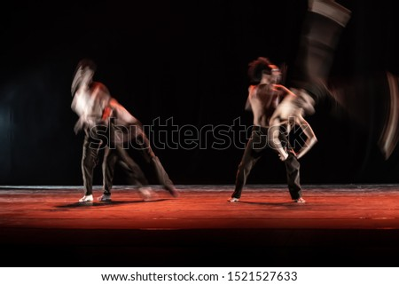The abstract movement of the dance #1521527633