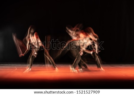 The abstract movement of the dance #1521527909