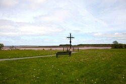 The Acadian Memorial Cross in Nova Scotia, this was the location where many Acadians were deported from the province in 1755.