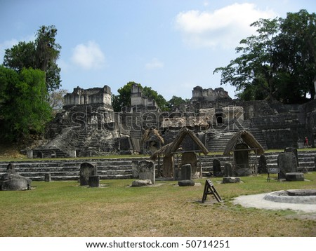 The Acropolis at the UNESCO site at Tikal,