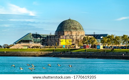 Photo of  The Adler Planetarium, a public museum dedicated to the study of astronomy and astrophysics in Chicago, Illinois