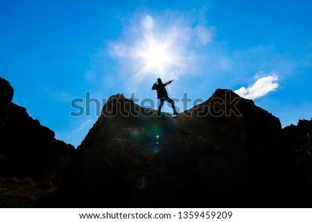 The adventures of a powerful and courageous mountaineer  #1359459209