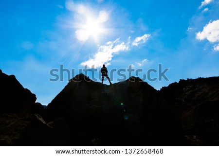 The adventures of a powerful and courageous mountaineer  #1372658468