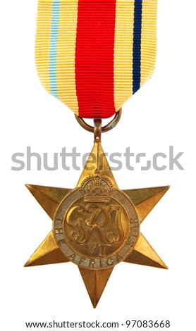 The Africa Star Second World War Medal