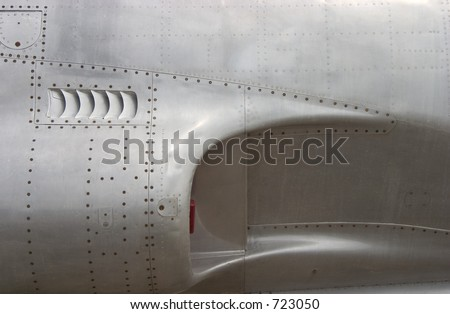 The air-intake of a jet fighter.