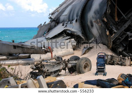 The airplane crash site set for ABC's hit show LOST on the North Shore of Oahu, Hawaii.