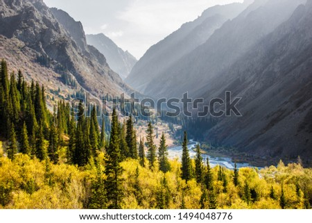 The Ala Archa nature reserve, Kyrgyzstan Foto stock ©