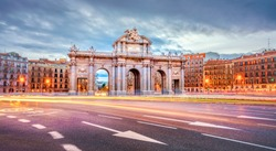 The Alcala Door (Puerta de Alcala) is a one of the ancient doors of the city of Madrid, Spain. It was the entrance of people coming from France, Aragon, and Catalunia. It is a landmark of the city.
