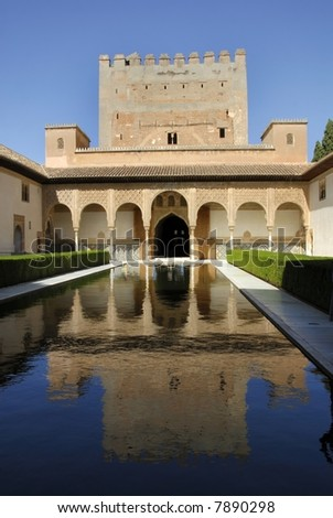 The Alhambra, in Granada Spain. This is an UNESCO World Heritage site.