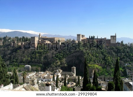 The Alhambra palace in Granada, Spain.
