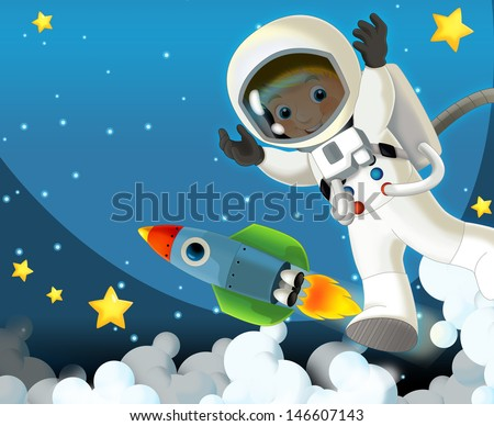 The aliens subject - ufo - star - kindergarten - menu - screen - space for text - happy and funny mood - illustration for the children, XXL large file