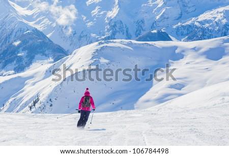The Alpine skiing resort in Austria Zillertal