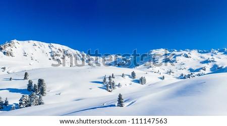 The Alpine skiing resort in Austria Zillertal. Panorama