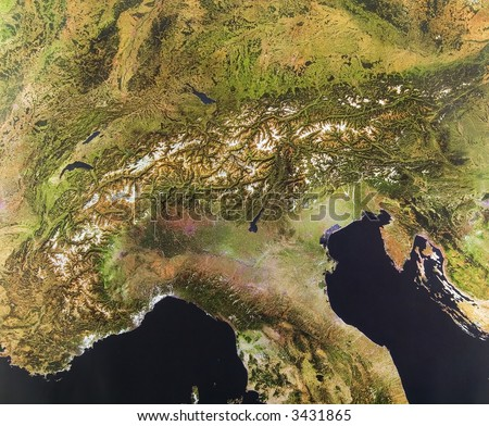 The Alps, Europe from space