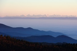 The Alps from the Vosges