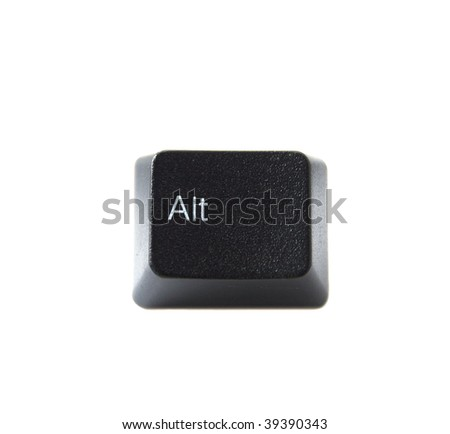 The ALT key from a black computer keyboard