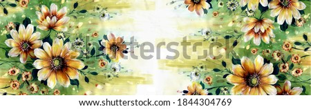 The Amazing fabric Abstract Background, Flowers watercolor illustration.Manual composition. Watercolor elements for greeting card and textile and digital print - Illustration