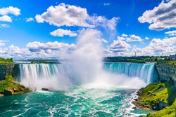 The amazing Niagara Falls is renowned for its beauty and is the collective name for three waterfalls that straddle the international border between Canada and the USA. It is a must see destination!