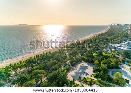 The amazing view of Sanya beach on Hainan, China Сток-фото ©