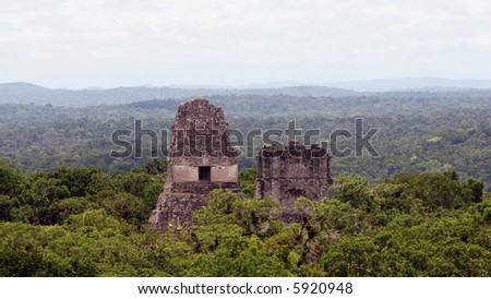 The amazing view of the jungle and surrounding temples as seen from Temple IV at Tikal