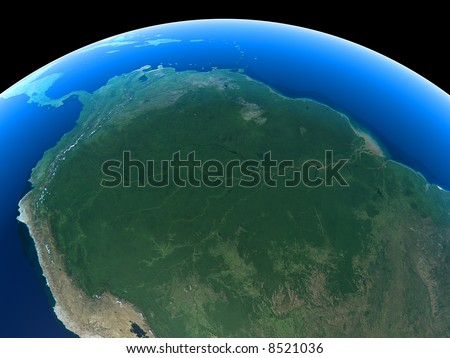 The Amazon as seen from space