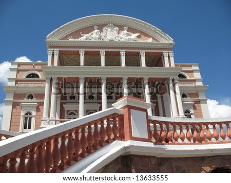 The Amazon Theatre (Teatro Amazonas) is an opera house located in the heart of Manaus, inside the Amazon Rainforest in Brazil.