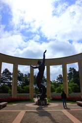 the american cemetery of omaha beach in normandy, france